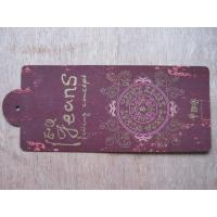 Quality gold stamping hang tag for sale