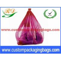 Quality Colorful Collapsible Plastic Laundry Bags , Water Soluble Hotel Laundry Bags for sale