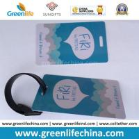 Quality Hard PVC Logo Printed Promotional Luggage Tag W/Tape Loop for sale