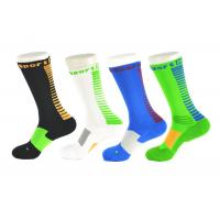 Quality Spandex / Elastane Green Athletic Basketball Socks With Anti - Bacterial / Anti - Slip Materials for sale