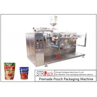 China Sauce Premade Pouch Packaging Machine For Doypack , 3/4 Sides Sealed Bags , Pillow Bags on sale
