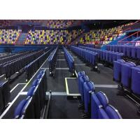 Upholstered Retractable Grandstands Seating With Double Row Platform