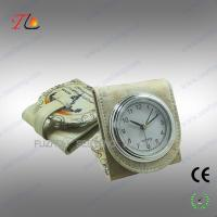 Quality Folding mini fancy desk alarm clock and travel alarm clock with moscow building printed for sale