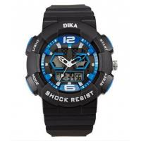 China Dual Time analog digital watches for mens / 3ATM Water Resistant sport analog watch on sale