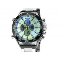 China Weide Stainless Steel Mens Military Watches Water Resistant , Japan Movt Watch on sale
