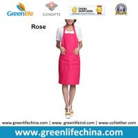 Quality Plain stock aprons OEM rose color imprinted aprons for advertisment eco-friendly fabric for sale