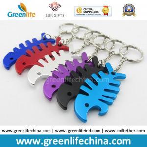 Quality Colorful Custom Cheap Bulk Blank Aluminum Metal Beer Keychain Bottle Opener w/Key Ring for sale