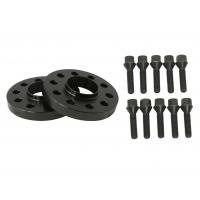 """25mm (1"""") 5x120 Hubcentric 72.56 Black Wheel Spacers & 10 12x1.5 Cone Seat Bolts, black bolts"""
