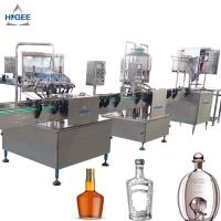 Quality Alcohol Liquor Vodka Filling Machine For Glass Bottles With 0.75kw Power for sale