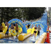 China Crazy Fun Giant100×5.8m  PVC Tarpaulin Inflatable Slip N slide  The City For Adult on sale