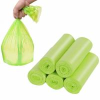 Quality 100 % Small Compostable Trash Bags , Flat Bin Liner Bags 0.01 - 0.08 Mm Thickness for sale
