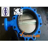Quality Rubber Lined Gear Operated Butterfly Valve Cast Iron With EPDM / NBR Seat for sale