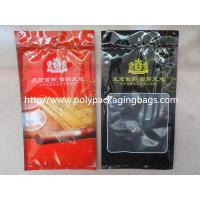 Quality Resealable Plastic Cigar Bags With Humidity Controlled System For Nicaragua Cigars / Dominica Cigars for sale