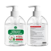 Quality Protective Antibacterial Hand Sanitizer Gel 75% Alcohol 500ml Transparent Color for sale
