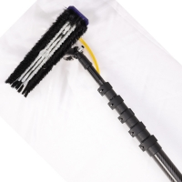 Quality High modulus polish woven roll wrapped 100% carbon fiber flexible window cleaning pole for sale