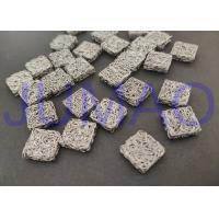 Quality Square Stainless Steel Knitted Mesh 3.7 Mm Height For Shielding Cleaning Damping for sale