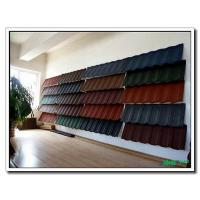 Quality Shingle Stone Sand Chip Coated Roof Tile Panel, Roofing Tiles Sheet with South Korea Technology for sale