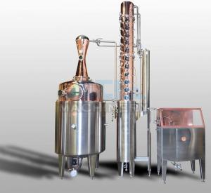 Quality 200L 500L 1000L Red Copper Alcohol Vodka Pot Still Distiller for sale
