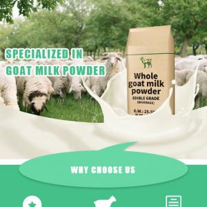 Quality All Ages 42% Protein Powdered Goat Milk No Artificial Colours for sale