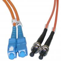 Quality Duplex ST to SC Multimode Fiber Optic Patch Cord for Telecommunication Networks for sale