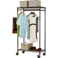 Quality Heavy Duty Commercial Wire Shelving , Garment Wardrobe Metal Wire Racks For Storage for sale