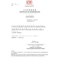 China The Cost and process for Register a new hong kong company business certificate import export trading corporation on sale