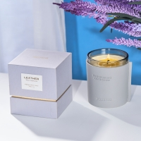 Quality 180G Glass Jar Luxury Organic Aromatherapy Candles for sale