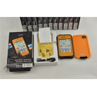 Best Orange / Black Protective Waterproof Cell Phone Case Life Proof For Iphone 4s wholesale