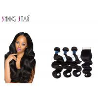No Lice Virgin Brazilian Remy Hair Body Wave , 9A Long Body Wave Weave