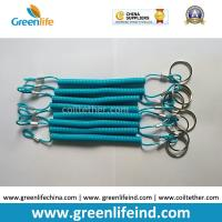 Buy cheap Top Quality Blue TPU Coated Safety Elastic Coil Cord Rop Key Ring Accessory Full from wholesalers