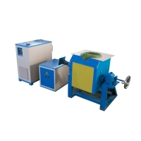 Quality 70kw Induction Melting Furnace 20-100kg Gold Silver Copper Steel Iron for sale