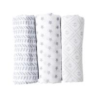 Quality 47 X 47 Inch Baby Swaddle Blankets , Newborn Swaddle Blankets For Spring / Autumn for sale