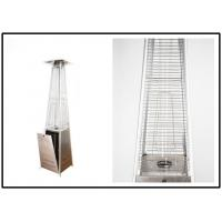 Quality Decorative Square Glass Tube Patio Heater 8kW All Weather Protective for sale