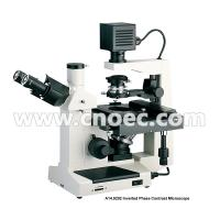 Best 400X Plan Phase Contrast  Inverted Optical Microscope Halogen Lamp Rohs CE A14.0202 wholesale