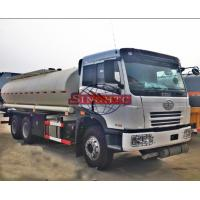Quality FAW 6x4 Oil Tanker Truck 20 - 25 M3 Volume FAW J5M Cabin Manual Gearbox for sale