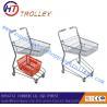 Best Steel Wire Customized Basket Shopping Trolley Basket Cart Unfolded wholesale