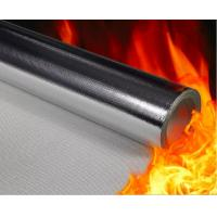Quality Thermal Insulation Aluminized Fiberglass Fabric AL7628 High Surface Friction for sale