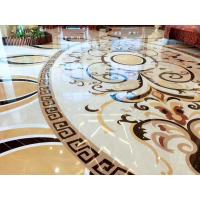 Quality Hall Decorative Natural Stone Floor Medallions Nice Water Jet Pattern for sale
