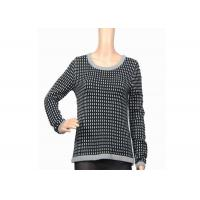 Quality Autumn Winter Warm Thick Womens Knit Sweater Black And White Female Acrylic for sale