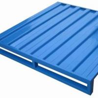 Quality Transportation Stackable Steel Pallets ,   Blue Rustic Metal Stacking Pallets for sale
