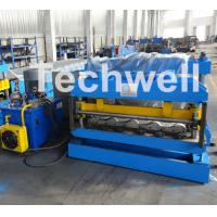 Buy 3D Step Tile Roll Forming Machine , Glazed Roof Panel Roll Forming Machine at wholesale prices