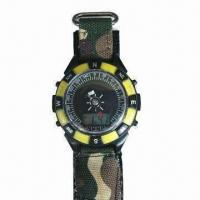 Quality FM Radio Watch with Compass, Time and Date Display, CE Certified for sale