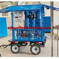Quality Trolley Mounted Transformer Oil Purifier, Movable Transformer Oil Regeneration System mobil oil recycling machine cover for sale