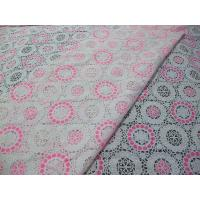 China Pink Geometric Polyester Lace Fabric Cotton Burnout Allover Lace for Lady Clothes(CY-DK0041) on sale