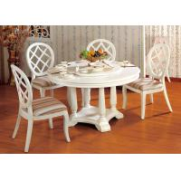 Buy cheap Hotel Elegant Wooden Luxury Dining Room Furniture White Round Dining Table from wholesalers