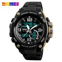 Quality Large factory SKMEI 1340 fashion style mens sport digital Waterproof watch for sale