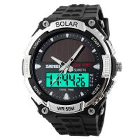 Quality Long Time Battery Analog Digital Wrist Watch With Bright EL Back Light for sale