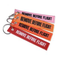 Quality Non - Toxic Embroidered Key Tags Comfortable Touchness For Advertising for sale