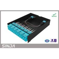 China MPO Fiber Optic Patch Panel , MPO LGX Box MPO Cassette Packed with Mpo Patch Cord on sale