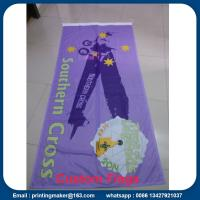 Quality Custom 110 G Knitted Polyester Fabric Advertising Flags for sale